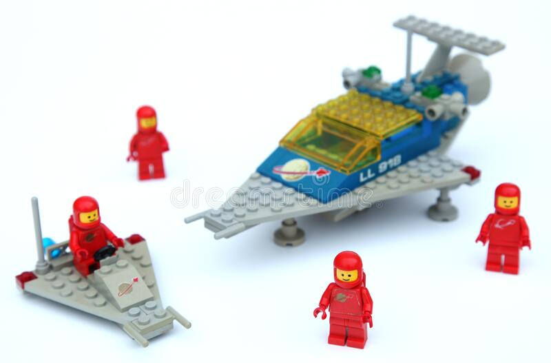 Misión espacial Lego fotos de archivo
