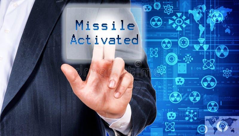 Misil activado imagen de archivo
