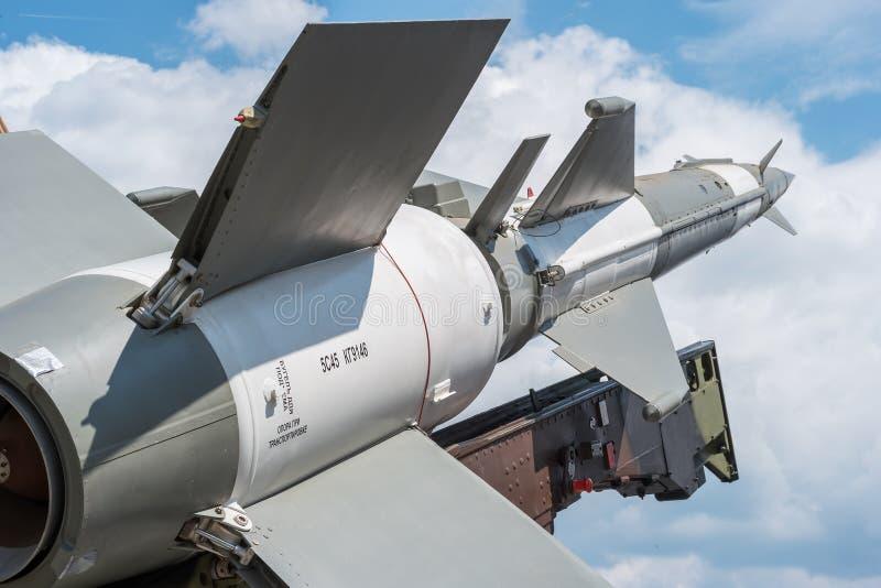 Misil anti de los aviones fotografía de archivo libre de regalías