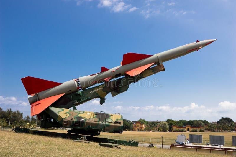 Misil soviético en Cuba foto de archivo