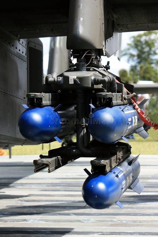 Misiles de Apache AH64 fotografía de archivo