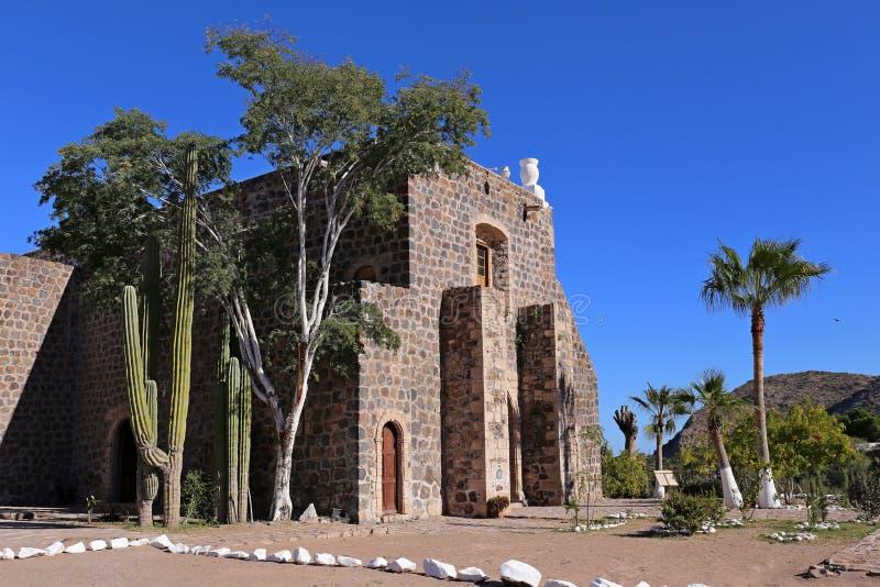 Mision Santa Rosalia de Mulege, Нижняя Калифорния стоковая фотография