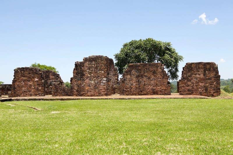 Misiones de la jesuita del La Santisima Trinidad de ParanÃ, Paraguay imagen de archivo libre de regalías