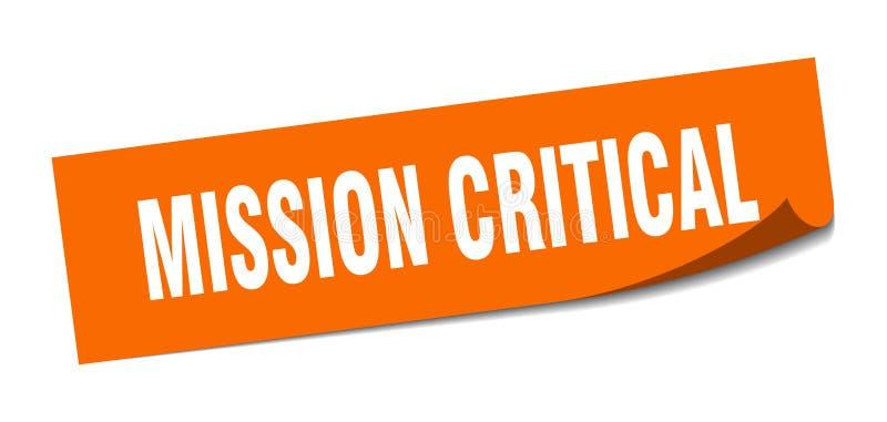misja krytyczny majcher ilustracja wektor