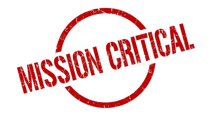 misja krytyczny znaczek ilustracja wektor