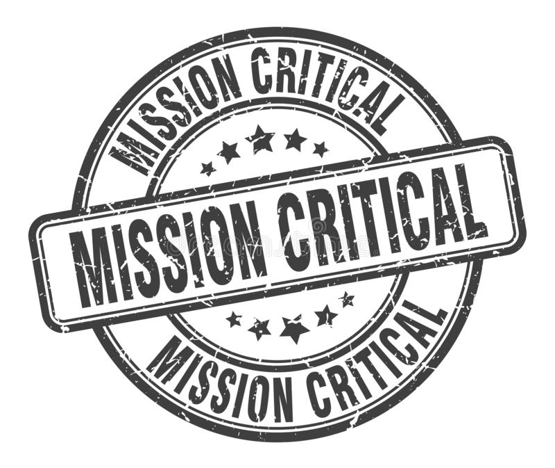misja krytyczny znaczek ilustracji