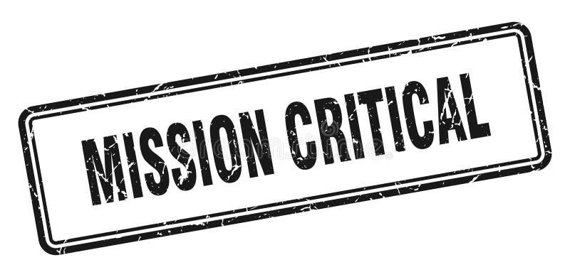 misja krytyczny znaczek royalty ilustracja