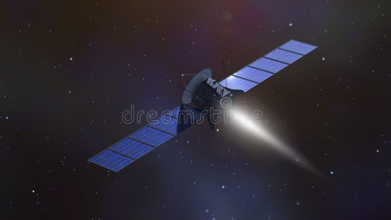 misja mąci satelitę ilustracja wektor