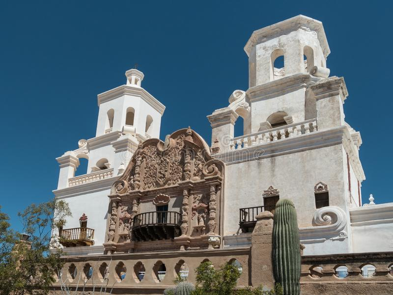 Misja San Xavier Del Bac w Tucson obrazy royalty free