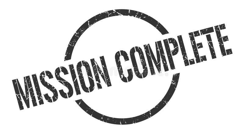 Misja zupełny znaczek ilustracji