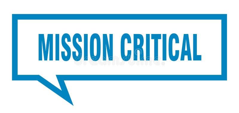misji mowy krytyczny bąbel ilustracja wektor