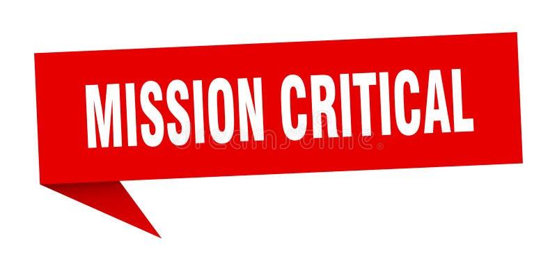 misji mowy krytyczny bąbel ilustracji