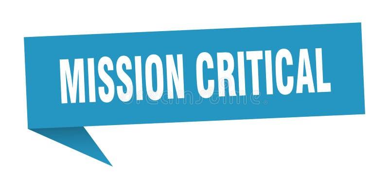 misji mowy krytyczny bąbel royalty ilustracja