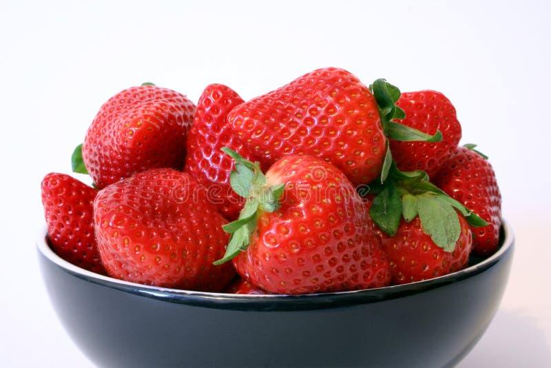 miskę truskawek zdjęcie stock