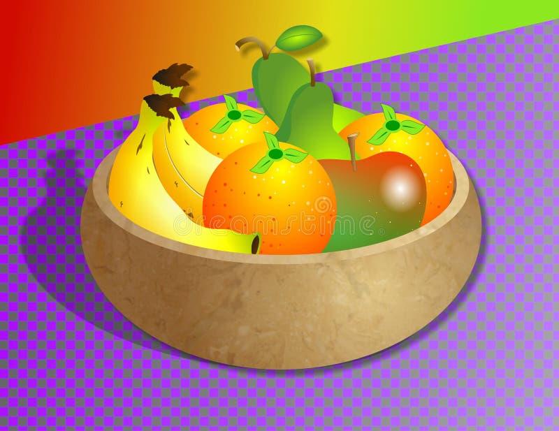 miska owoców ilustracja wektor