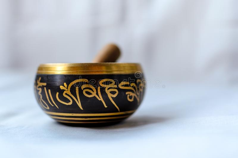 miski buddyjski śpiew obraz stock