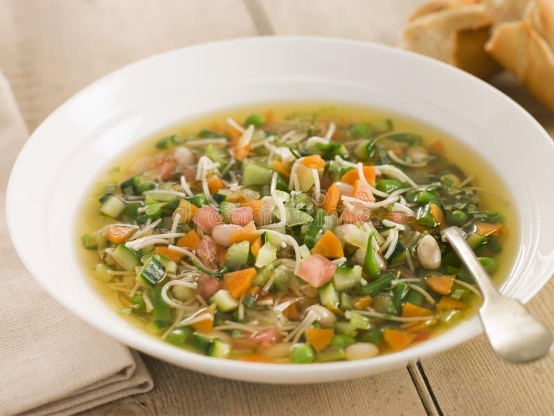 miski zupy pistou zdjęcie stock