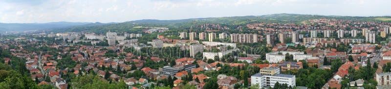 Miskolc, Hungría, 21 de junio de 2018: Vista panorámica de la ciudad de Miskolc imágenes de archivo libres de regalías