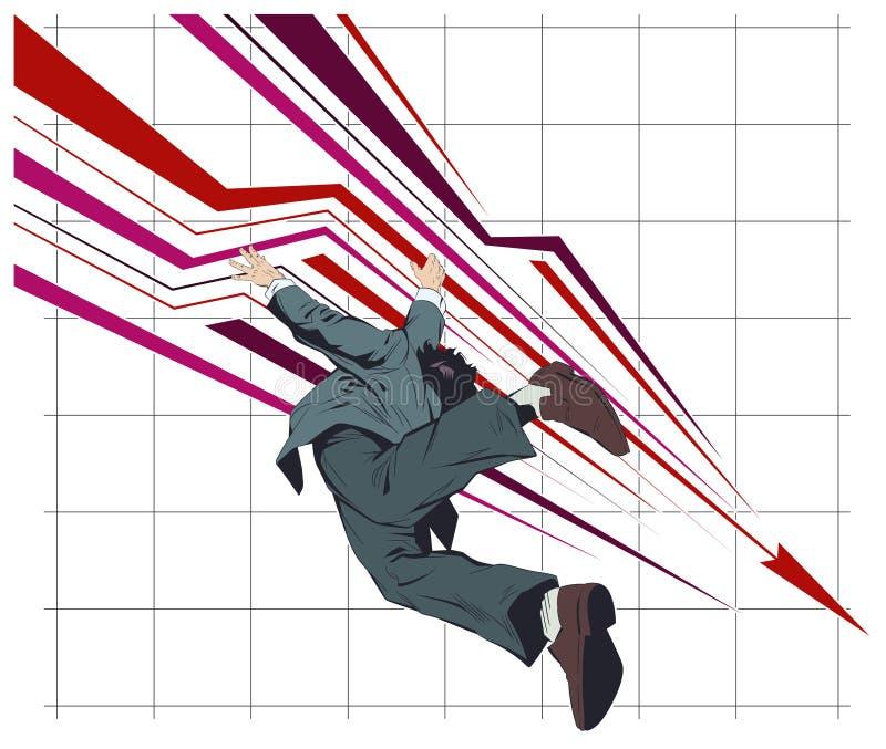 Mislukking en crisis De illustratie van de voorraad stock illustratie