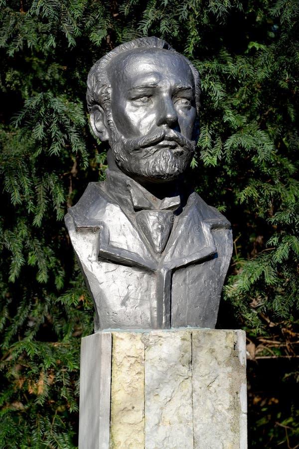 Mislukking van de componist P I Tchaikovsky in Kaliningrad, Rusland royalty-vrije stock afbeeldingen