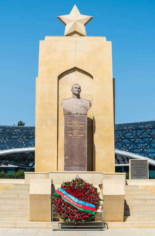 Mislukking van Hazi Aslanov in Baku, Azerbeidzjan royalty-vrije stock foto's