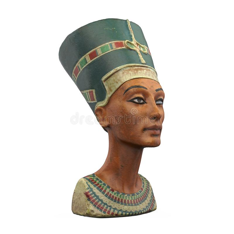 Mislukking van Koningin Nefertiti Isolated stock illustratie