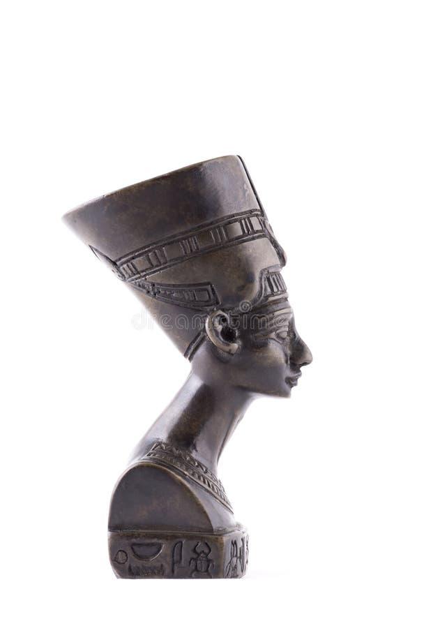 Mislukking van Koningin Nefertiti op witte achtergrond royalty-vrije stock fotografie