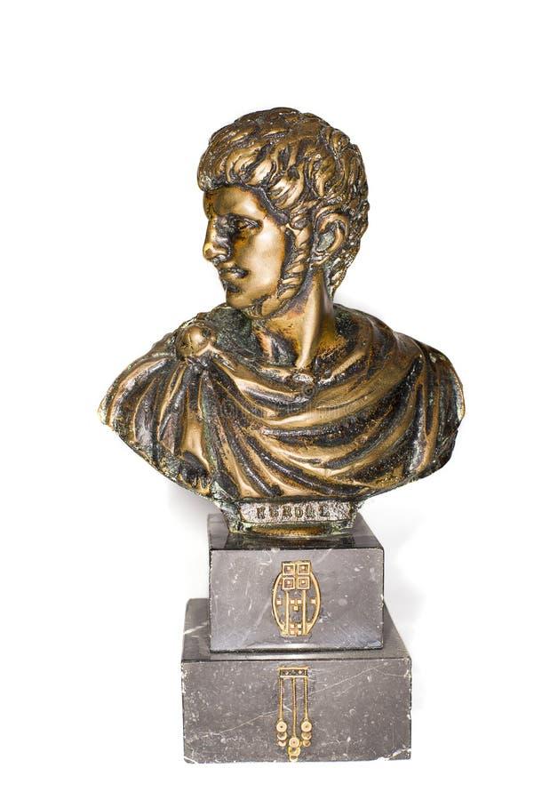 Mislukking van Roman keizer Nero Clavdius Caesar Avgustus Germanicus stock foto