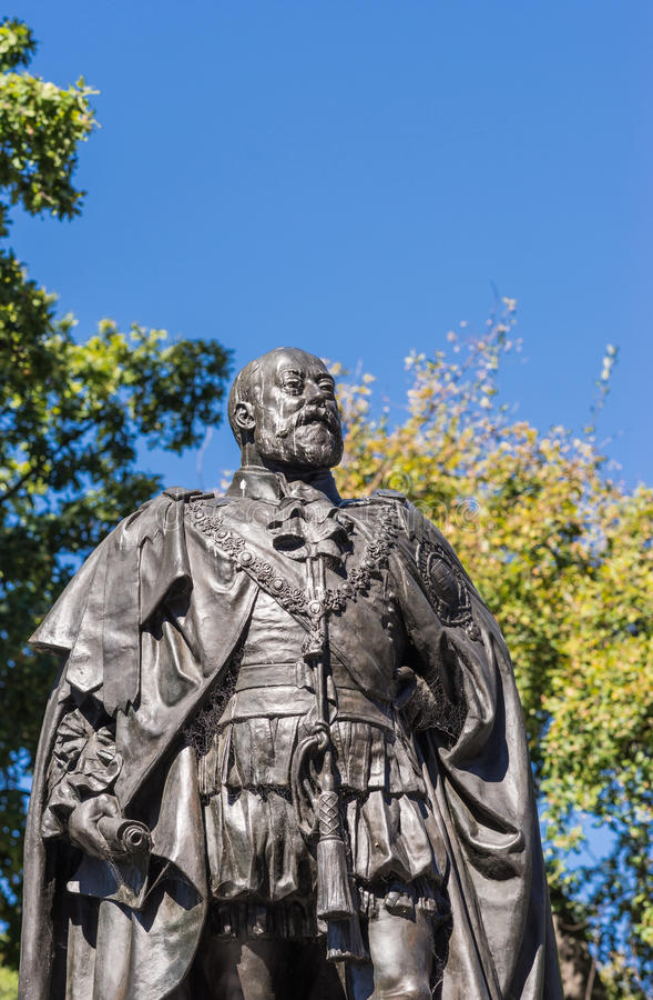 Mislukking van Standbeeld van Koning Edward VII in Hobart, Australië stock fotografie