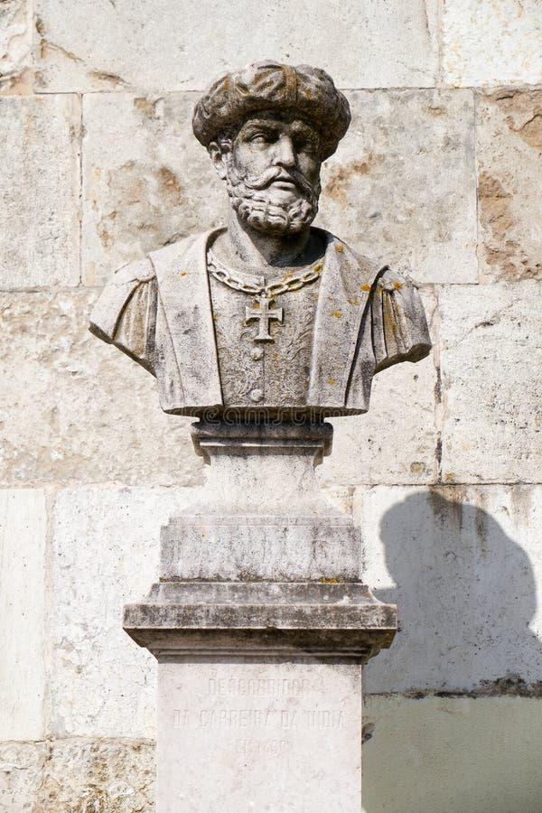 Mislukking van Vasco da Gama in San Pedro de Alcantara Garden Lisb stock foto