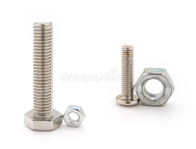 Mismatch bolt and nut stock photos