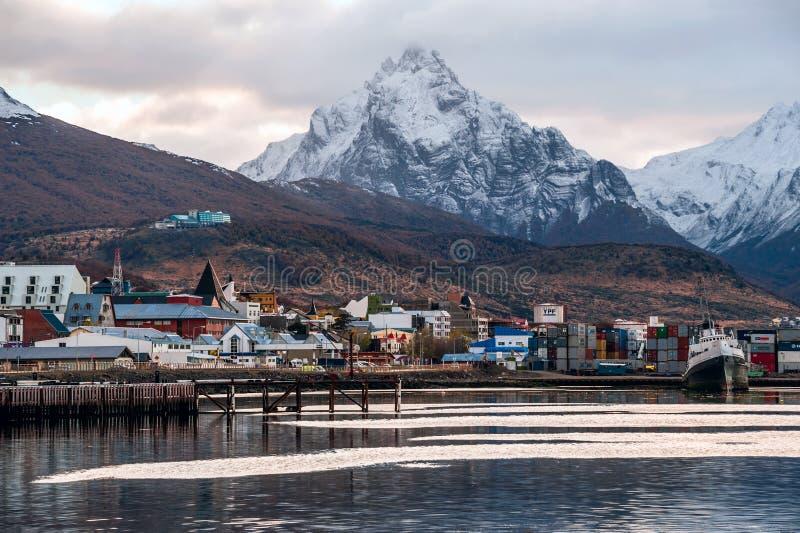 Mismo madrugada en Ushuaia, Tierra del Fuego, Patagonia fotografía de archivo