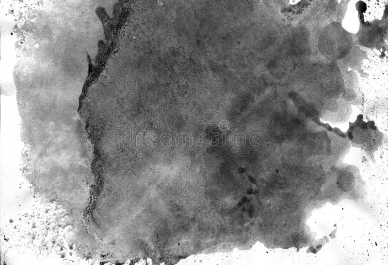MISMO resolución de la ALTURA Fondo geométrico del extracto de la pintada Textura negra del movimiento de la pintura acrílica en  fotografía de archivo libre de regalías