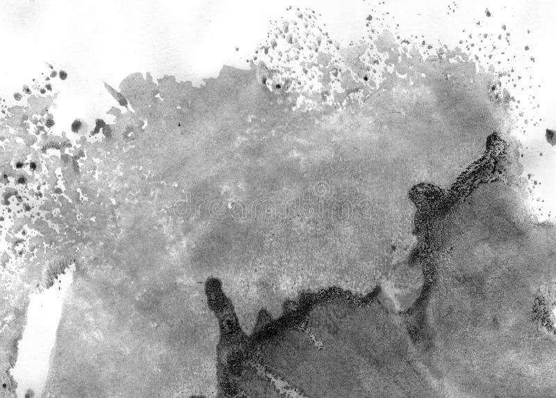MISMO resolución de la ALTURA Fondo geométrico del extracto de la pintada Textura negra del movimiento de la pintura acrílica en  foto de archivo