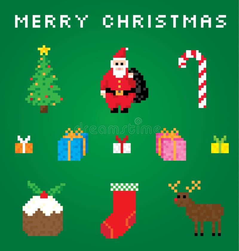 Mismo una Navidad del pixel stock de ilustración