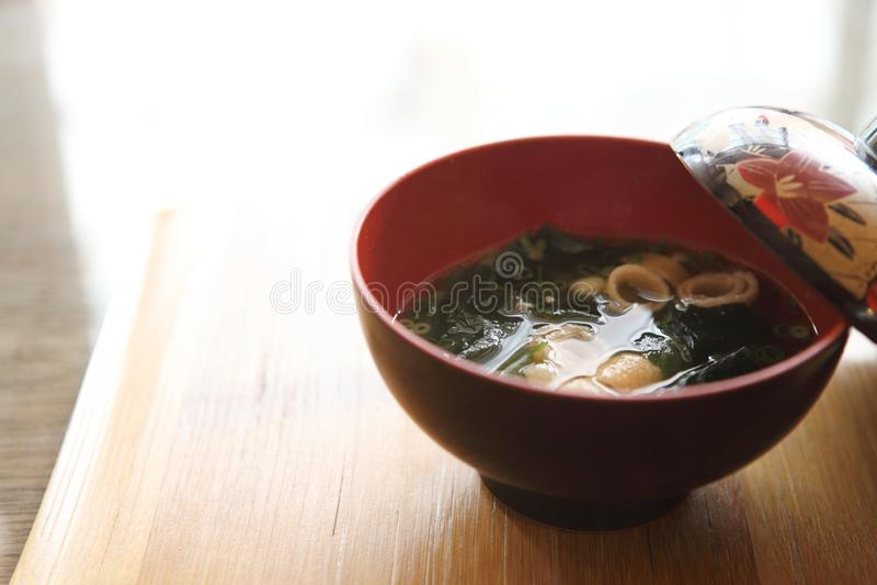Miso σούπα, ιαπωνικά τρόφιμα στοκ εικόνες