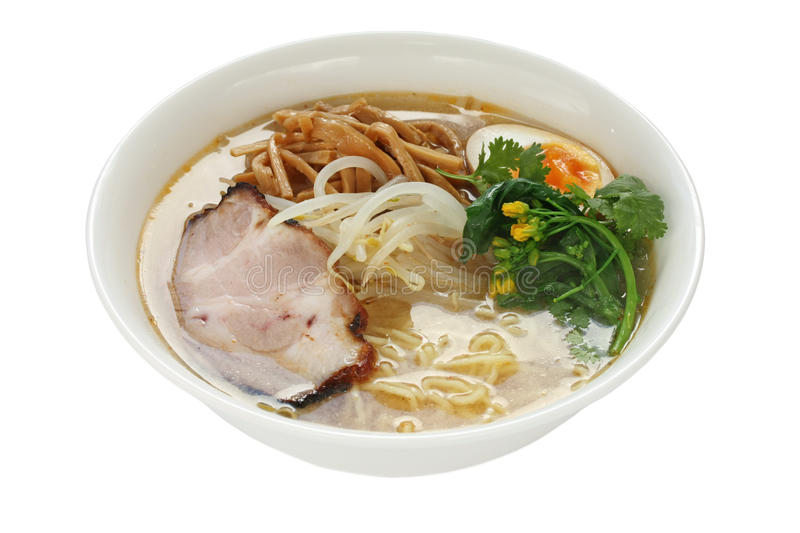 Miso Ramen Noodles , Japanese Food stock image