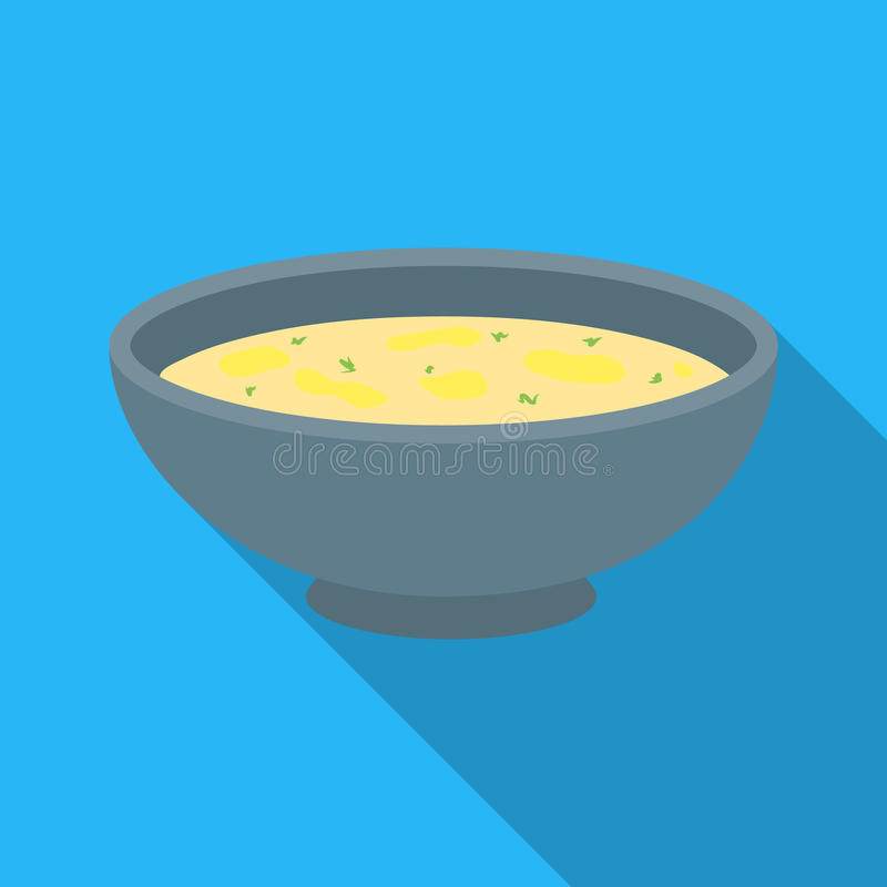 Miso soup icon in flate style isolated on white background. Sushi symbol stock vector illustration. Miso soup icon in flate style isolated on white background vector illustration