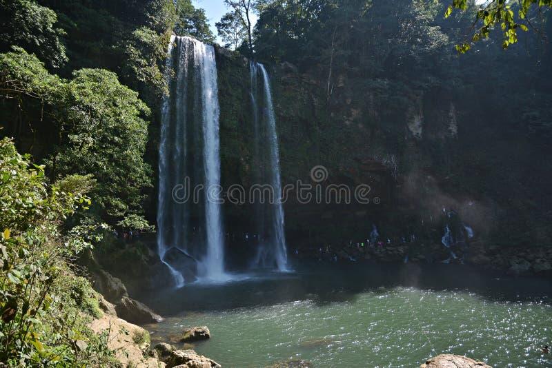 Misol Ha瀑布,恰帕斯州,墨西哥, 库存照片