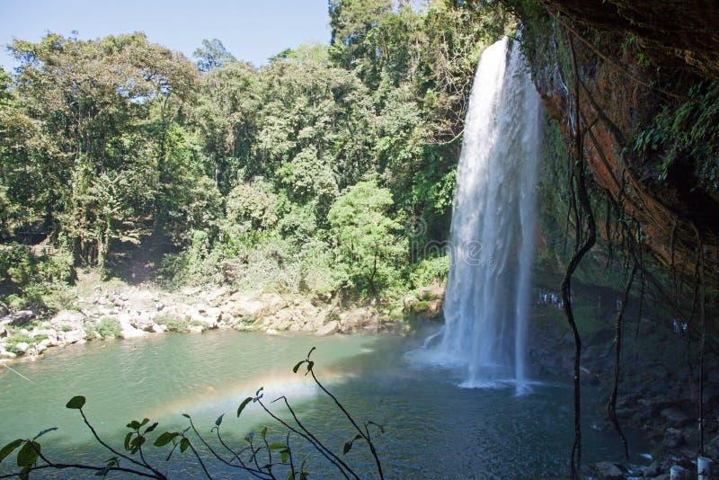 Misol Ha瀑布,恰帕斯州,墨西哥 图库摄影
