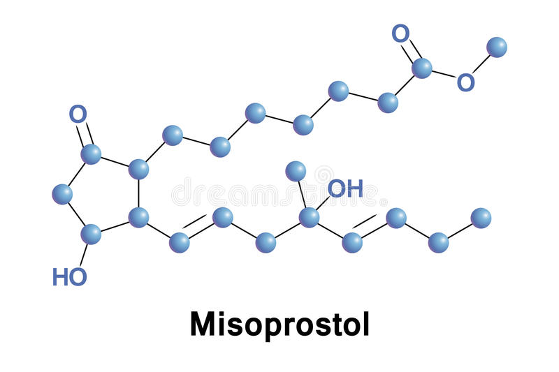 Misoprostol medication labor. Misoprostol is a medication used to start labor, cause an abortion, prevent and treat stomach ulcers, and treat postpartum bleeding royalty free illustration
