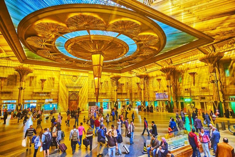 Misr拉姆西斯火车站,开罗埃及内部  免版税库存图片