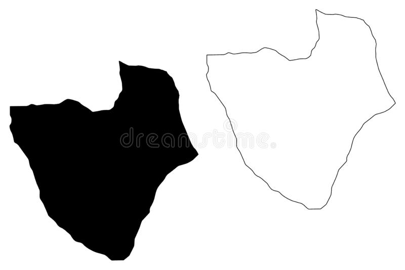 Misrata District Districts of Libya, State of Libya, Tripolitania map vector illustration, scribble sketch Misrata map.  stock illustration