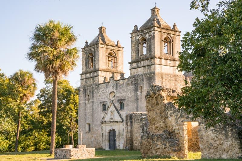 Missão Concepción em San Antonio fotografia de stock
