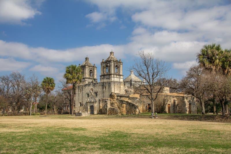 Missão Concepción, San Antonio, Texas imagem de stock royalty free