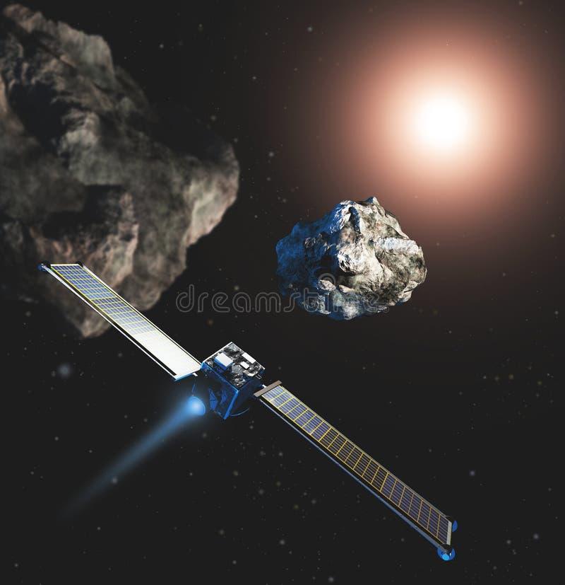 Missão do dardo da NASA ao asteroide fotografia de stock