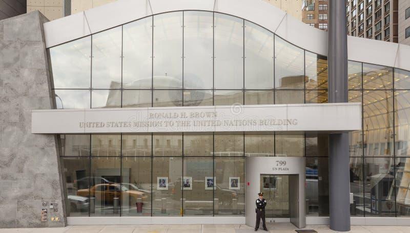 Missão dos Estados Unidos no edifício das Nações Unidas fotos de stock