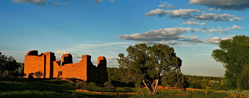 Missão espanhola do povoado indígeno foto de stock royalty free