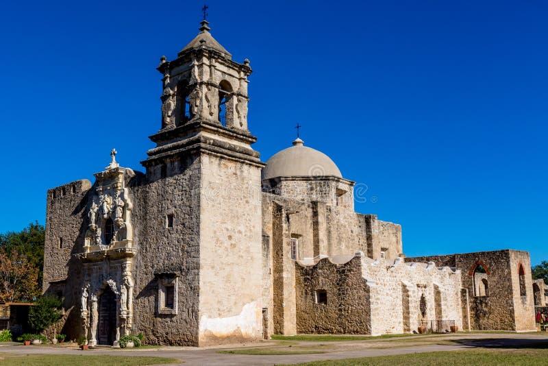 A missão espanhola ocidental velha histórica San Jose, fundado em 1720, fotografia de stock