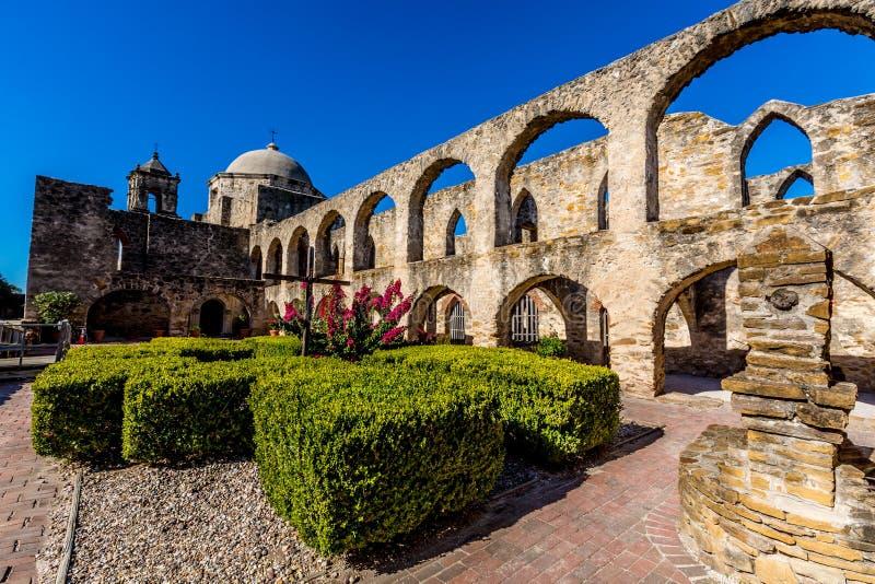 A missão espanhola ocidental velha histórica San Jose, fundado em 1720, imagem de stock royalty free